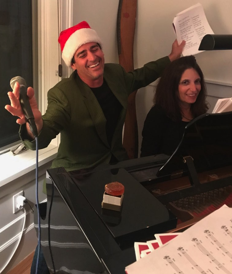 Ferris & guest performing at client Christmas party