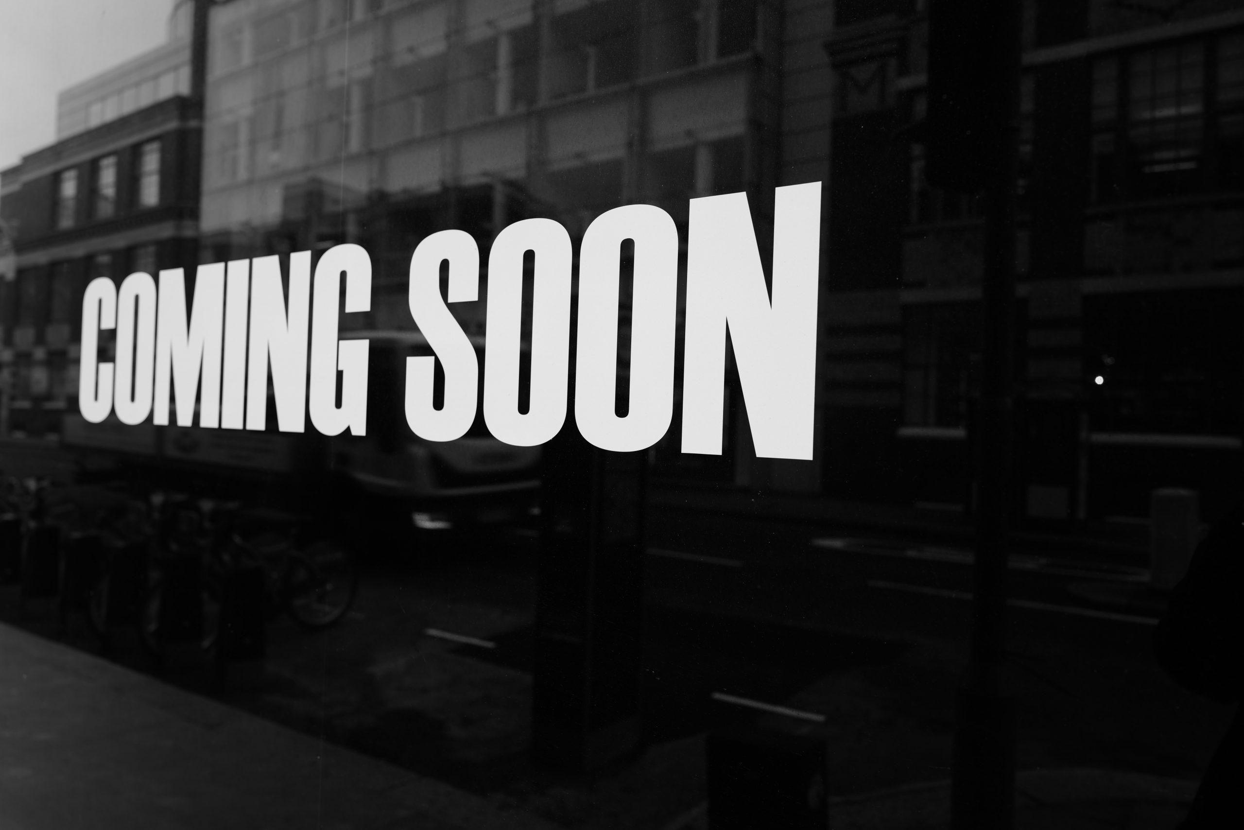 Coming Soon sign huma-kabakci